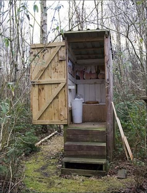 eco outdoor toilet still in use back to pioneer days living off the land