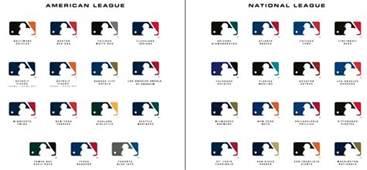 mlb team colors major league baseball logos mlb