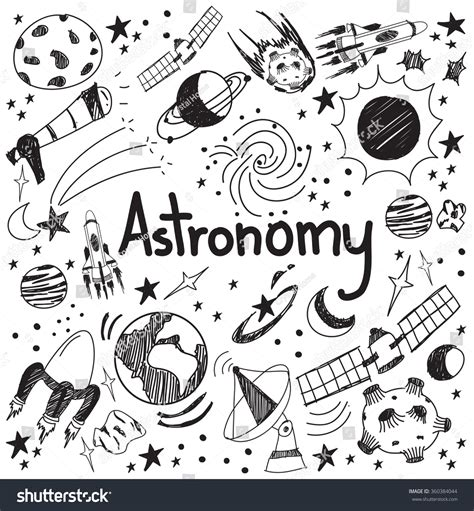 doodle names edit astronomy science theory drawing doodle handwriting stock