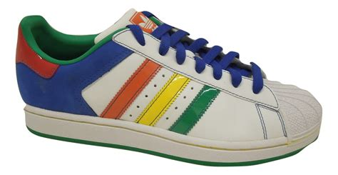 adidas superstar ii cb mens casual shoes white multi color ebay