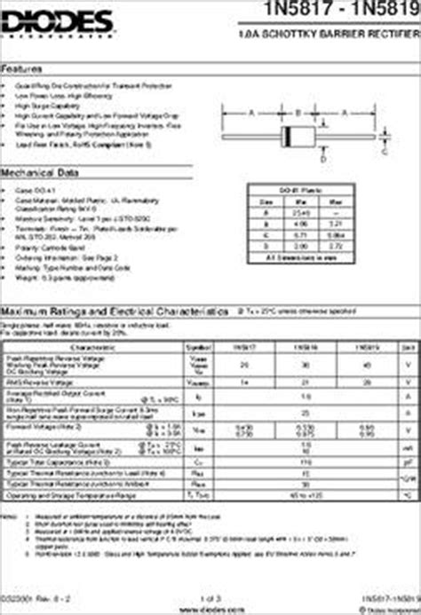 1n4004 diode specs 1n4004 diode specs 28 images sr504 t datasheet specifications diode 28 images 1n4004 t