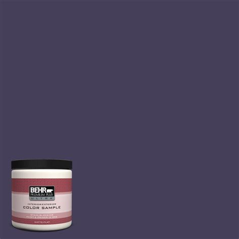 behr premium plus ultra 8 oz ppu16 4 purple agate interior exterior paint sle ul20416 the