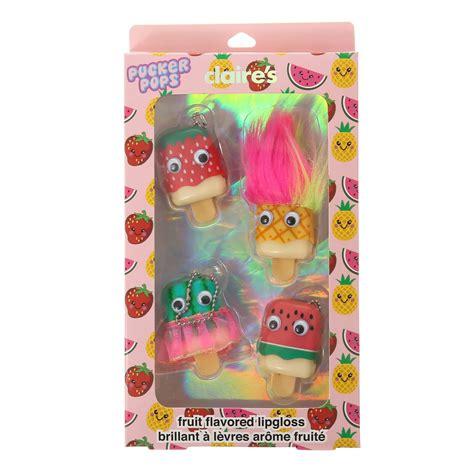 Trolls Pucker Pops Lip Gloss 4 pack fruit flavoured pucker pops lip glosses macie
