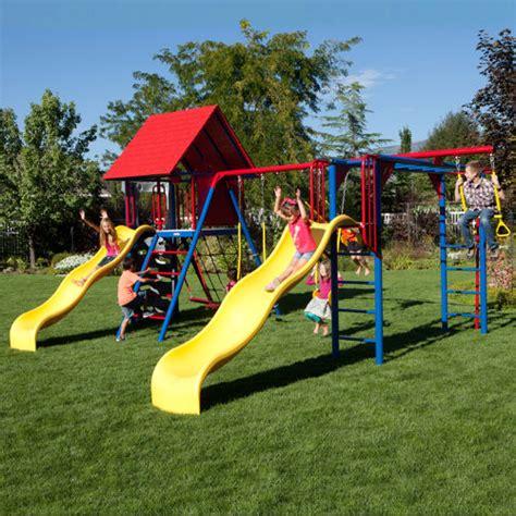 lifetime swing set costco lifetime double slide deluxe playset 187 welcome to costco