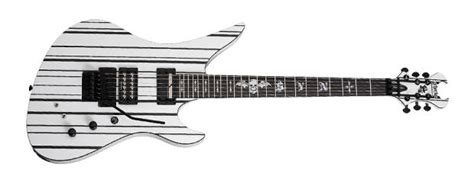 Gitar Shecter Synster Gates Series Black Murah schecter synyster gates custom s sustainiac new white w black pinstripes reverb