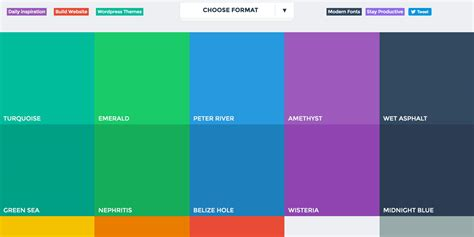 flat ui color 13 helpful resources for color palette inspiration