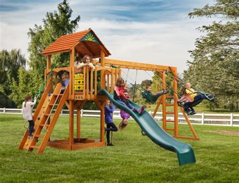 swing sets lancaster pa amish built cubby s fort wooden swingset located in