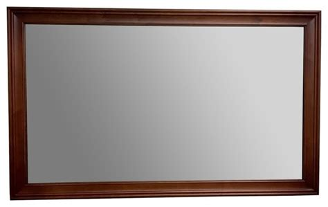 cherry mirrors bathroom ronbow transitional solid wood framed bathroom mirror
