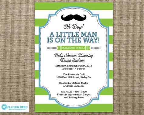 little man baby shower invitation little man invitation