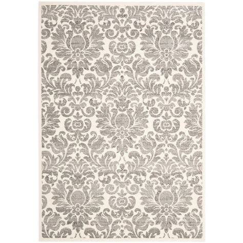 Safavieh Porcello safavieh porcello grey ivory 5 ft 3 in x 7 ft 7 in area rug prl3714a 5 the home depot