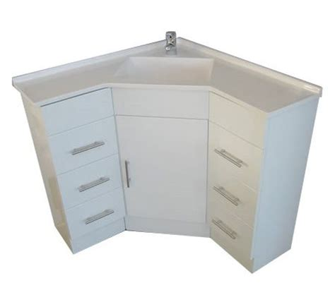 Bathroom Corner Vanity Cabinets A Corner Vanity Sink For A Small Bathroom But Tons Of Storage Space Need This For The Home