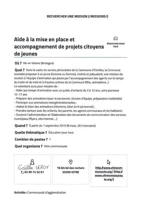 Exemple De Lettre De Motivation Service Civique Lettre De Motivation Service Civique Le Dif En Questions