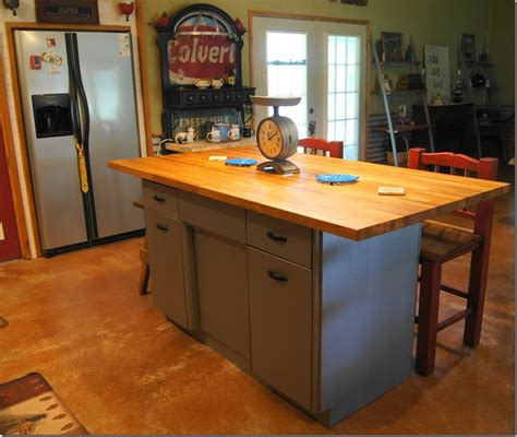 Stainless Steel Kitchen Work Table Island by Rusty Metal Cabinet Turned Into Butcher Block Island