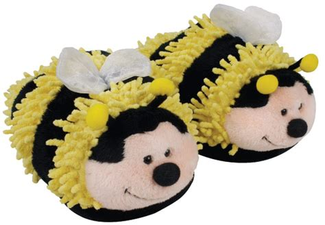 bumble bee slippers aroma home fuzzy friends bumble bee slippers plushpaws