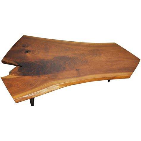 Walnut Slab Coffee Table George Nakashima Walnut Slab Conoid Coffee Table At 1stdibs