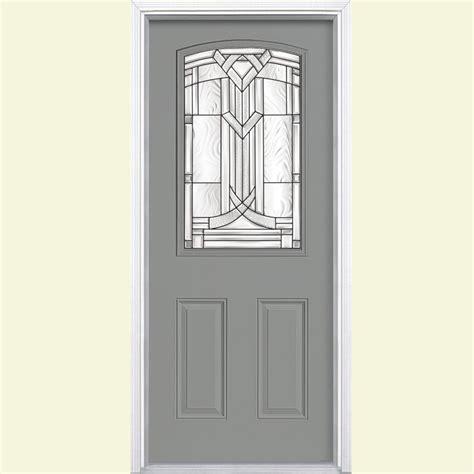 Half Light Door by Masonite 36 In X 80 In New Three Quarter Oval Lite