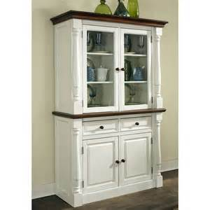 Kitchen Hutch Furniture by Home Styles Monarch China Cabinet White Amp Oak China