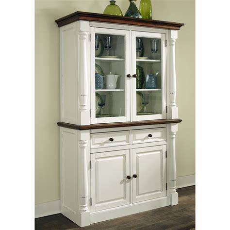 Kitchen China Cabinet | home styles monarch china cabinet white oak china