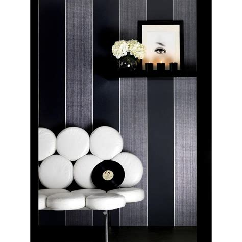 black removable wallpaper graham and brown bold stripe black removable wallpaper