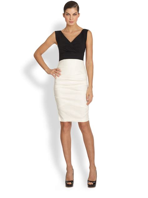 Nicoles Dress by Miller Andrea Two Tone Cocktail Dress In Black Lyst