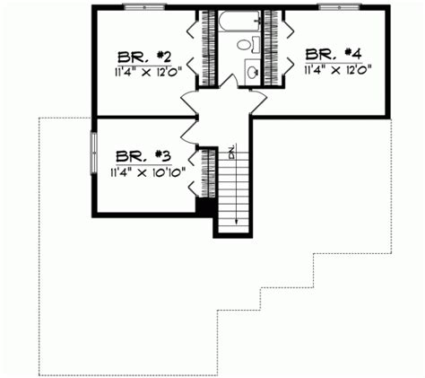 section 1059 plans traditional house plan 4 bedrooms 2 bath 1690 sq ft