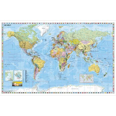 german map of the world stiefel political map of the world in german