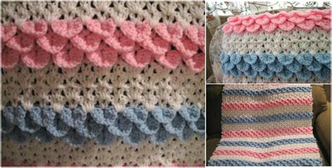 Crocodile Stitch Crochet Blanket by Crocodile Stitch Rock Baby Blanket Crochet Pattern Free