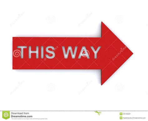 this way for the this way sign stock image image 23145531