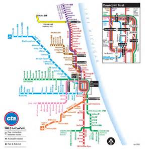 Chicago Cta Map by Cta Map Chicago Transit Guide