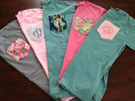 custom comfort colors pocket t shirts monogrammed comfort colors custom pocket tee by