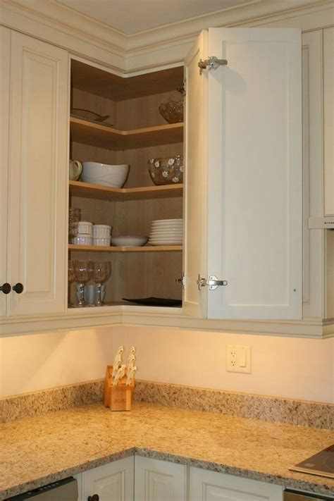 Upper Corner Kitchen Cabinet Ideas | great ideas for kitchen cabinet organization