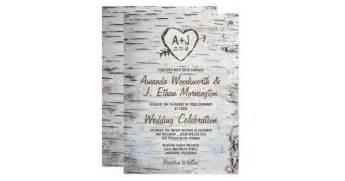 country wedding invitations country rustic birch tree bark wedding invitations zazzle