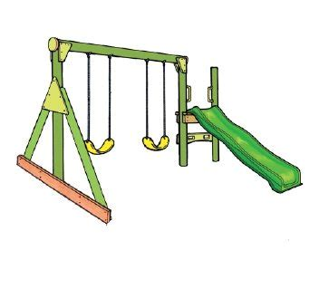 double swing set with slide double swing slide go and play playgrounds