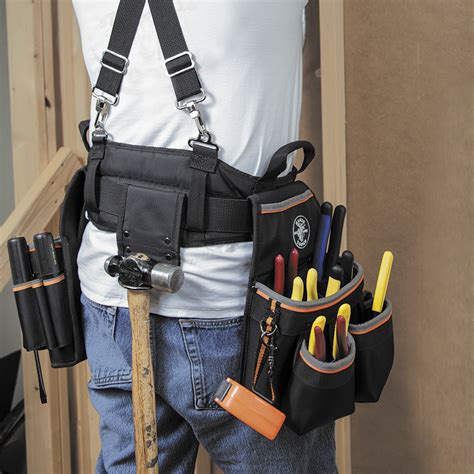 electrician tool belt tradesman pro electrician s tool belt large 55428 klein tools for professionals since 1857