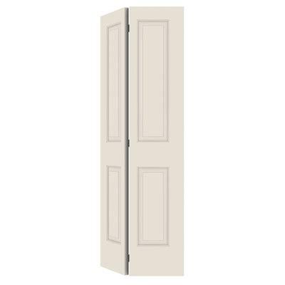 36 closet door reliabilt no frame 2 panel square hollow smooth molded composite bifold closet door