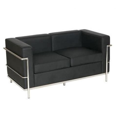 le corbusier leather sofa le corbusier style leather sofa 2 seater