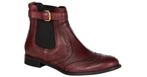 s low boots carvela kurt geiger chelsea boot in brown lyst
