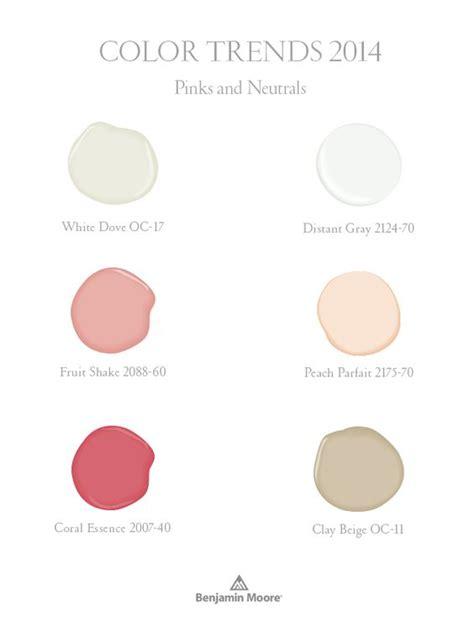 pinks and neutrals part of benjamin color trends 2014 palette benjamin aura