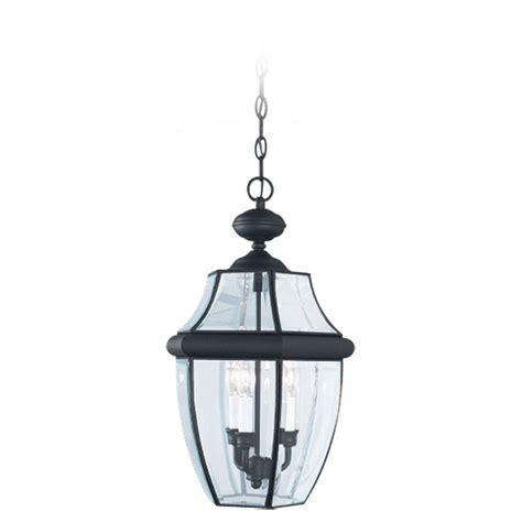 Outdoor Pendant Lighting Home Depot Sea Gull Lighting Lancaster 3 Light Black Outdoor Hanging Pendant 6039 12 The Home Depot