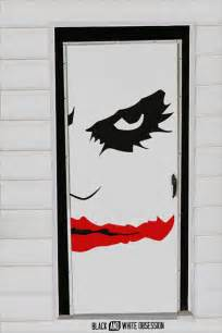 Creative Kitchen Island halloween door decorations ideas black and white obsession