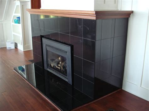 Black Granite Tiles For Fireplace by Absolute Black Granite Fireplace Directly Brick