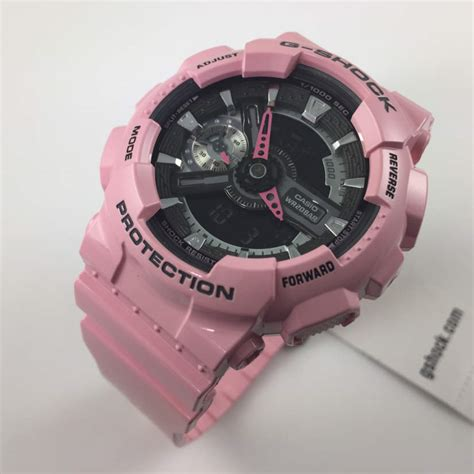 s casio g shock pink analog digital gmas110mp