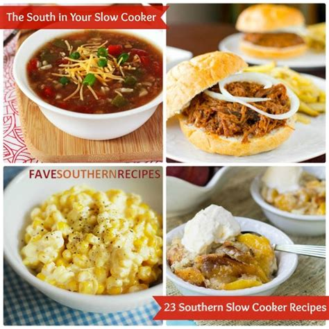 8 easy slow cooker recipes southern recipes for dinner