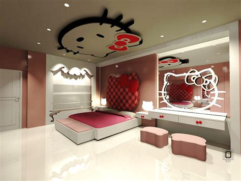 cool room decorations dreamful hello kitty room designs for girls amazing
