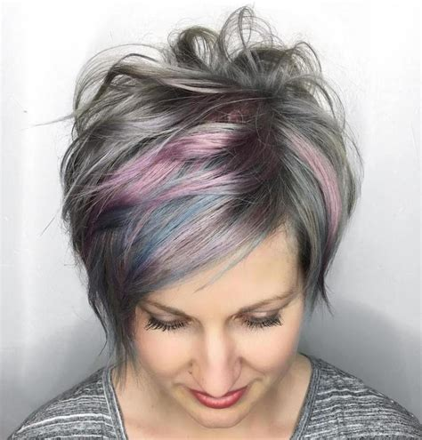 hairstyles grey highlights image result for transition to grey hair with highlights