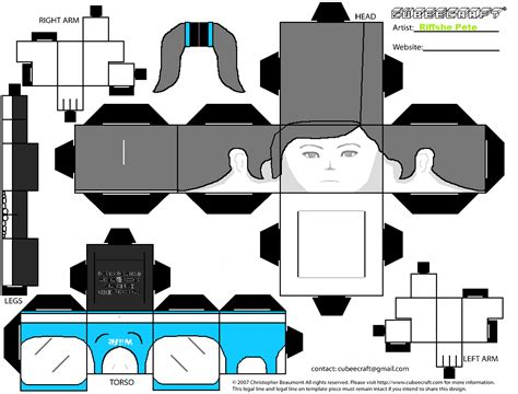 Wii Papercraft - wii fit trainer cubeecraft by riffshepete on deviantart