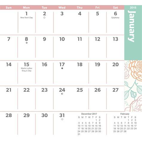 printable calendar 2018 pocket size large print 2018 monthly pocket planner 9781438851877