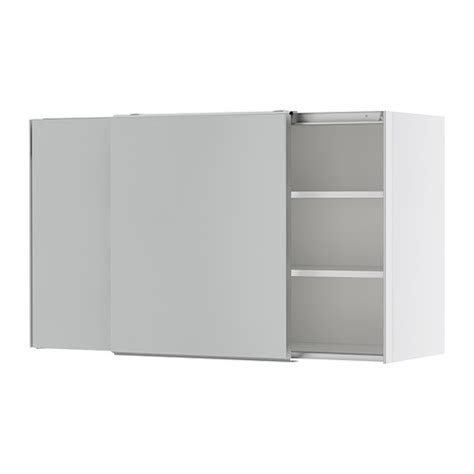 faktum wall cabinet with sliding doors appl 229 d grey