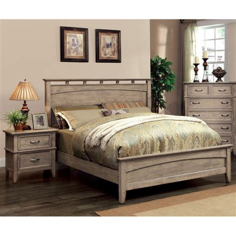 coastal bedroom furniture furniture of america ackerson coastal 2 piece queen panel