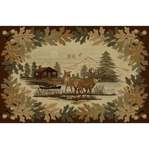 Deer Area Rugs Oakwood Deer Area Rugs